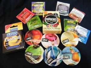 Variedad de condones con sabor, para sexo oral, en supercondon.com.mx