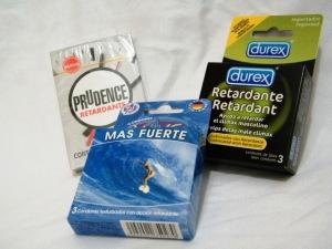 Tres diferentes condones retardantes en supercondon.com.mx Durex retardante, Prudence Retardante, Vive Más Fuerte retardante
