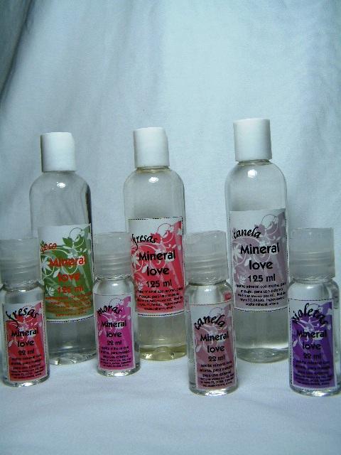Aceite mineral para masaje Mineral Love 22 y 130 ml varios aromas