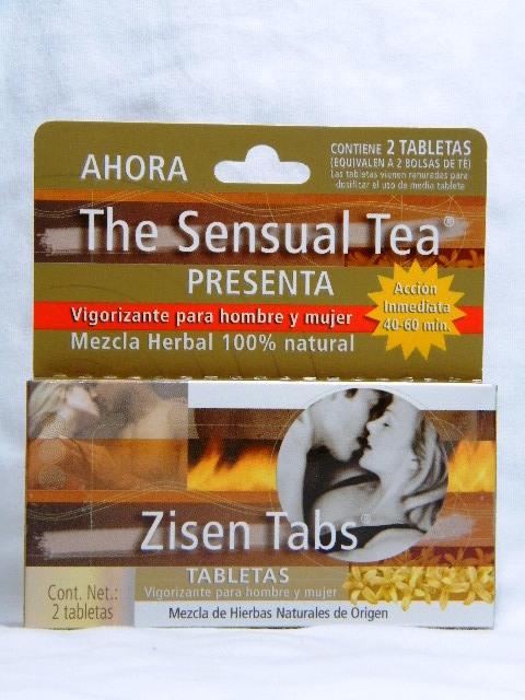 Zisen Tabs tabletas vigorizantes para hombre y mujer 2 tabletas a base de hierbas supercondon.com.mx
