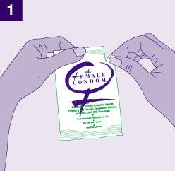 Abre el empaque del condón femenino FC2 por el punto indicado, supercondonmx